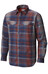Columbia Silver Ridge Flannel Long Sleeve Shirt Men Rust Red Ombre Plaid